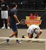 Andy Roddick on his knees
